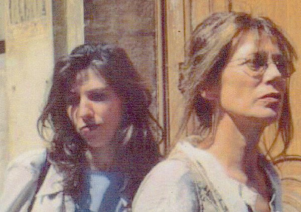 With Jane Birkin, during a demonstration