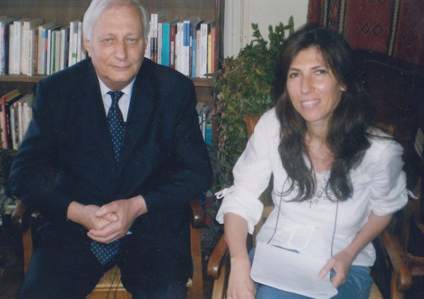 With Louis Joinet, international lawyer