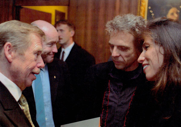With Vaclav Havel