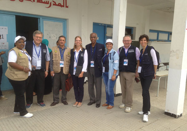 Elections in Tunisia with international observers, October 2014